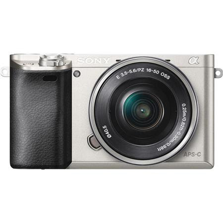 Alpha A6000 Mirrorless Camera with 16-50mm Lens, Silver