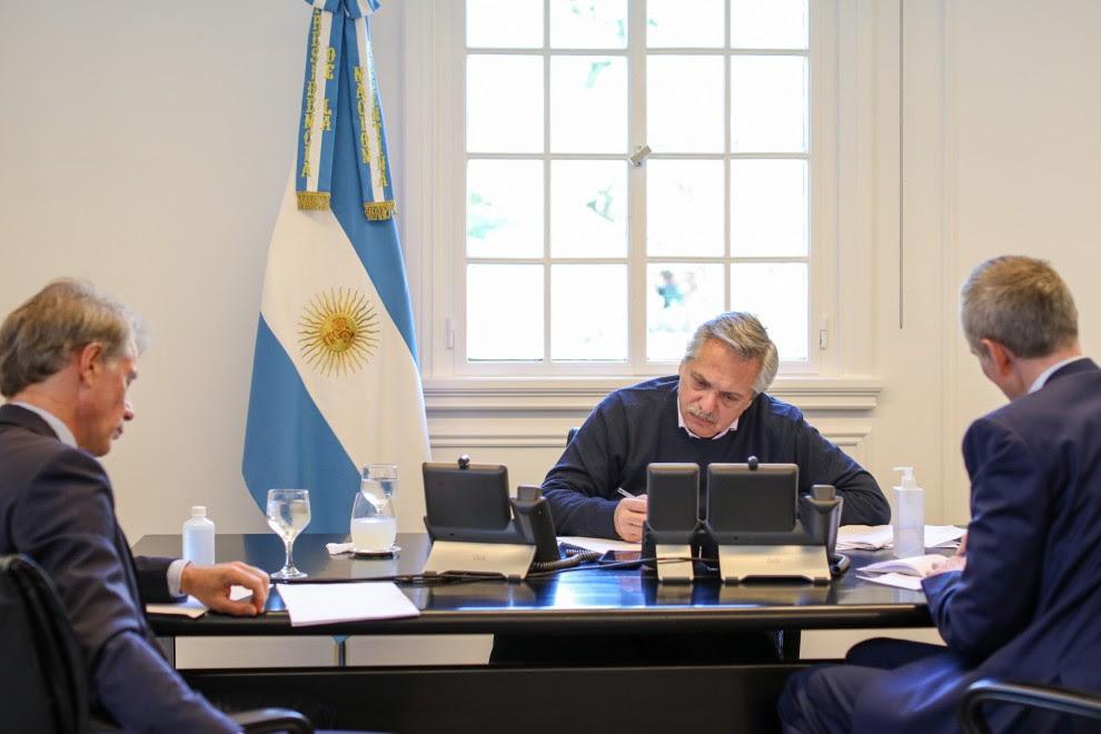 El presidente argentino, Alberto Fernández, pagó 250 millones de dólares de deuda externa a finales de marzo. Después abrió un proceso de renegociación con acreedores. CASA ROSADA