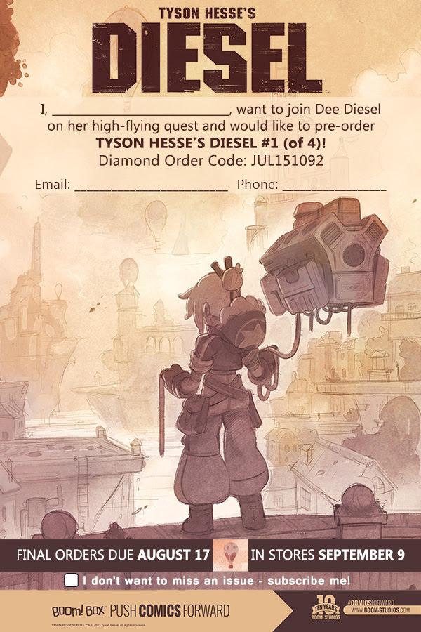 Tyson Hesse's Diesel Order Form