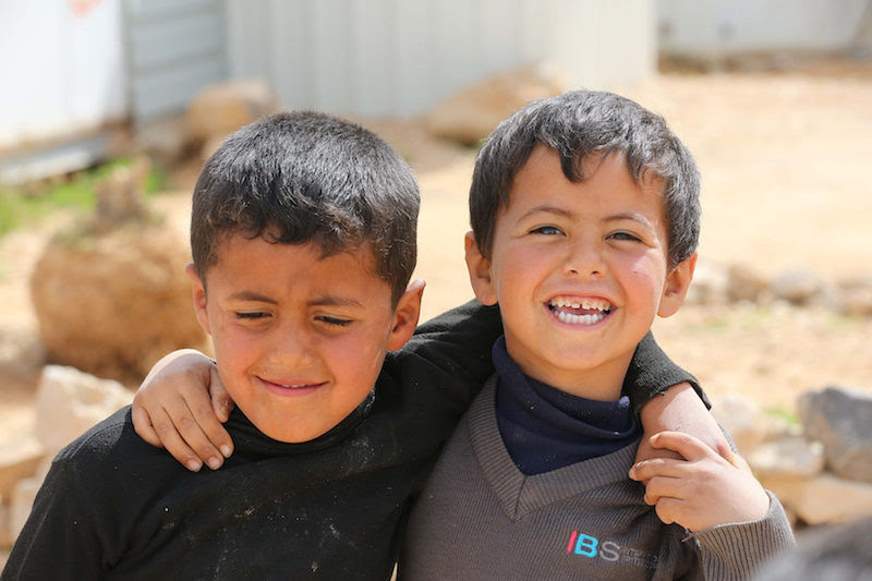 Syrian refugee children in Zaatari camp, Jordan