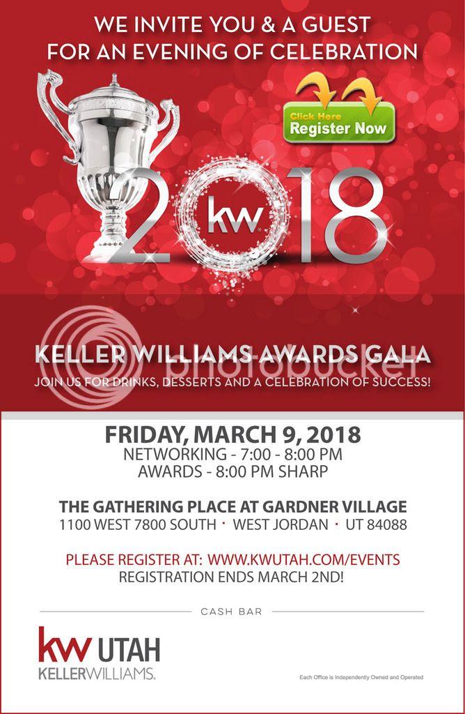 You're Invited! 2018 KW Utah Awards Gala