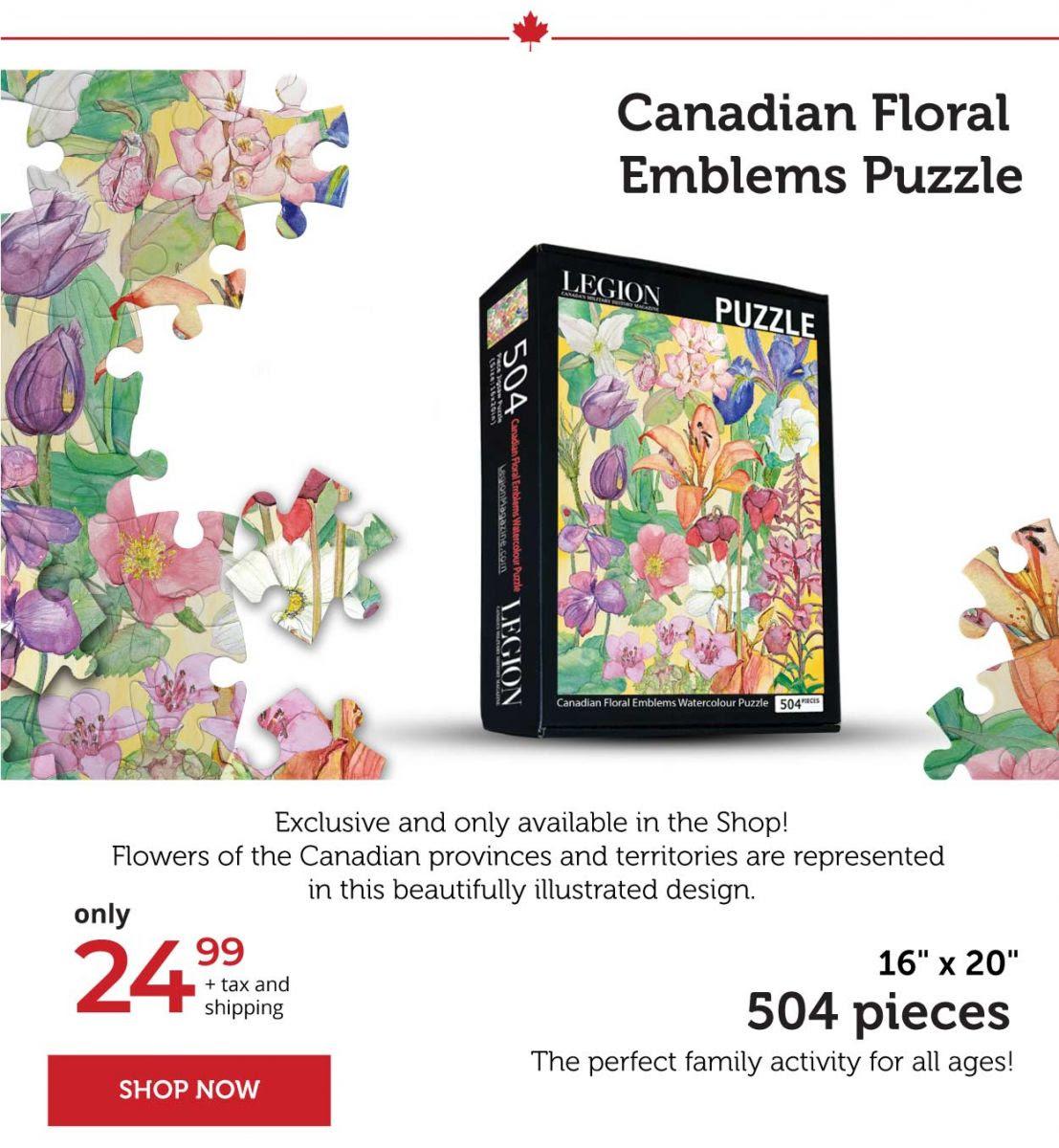 Canadian floral emblems puzzle