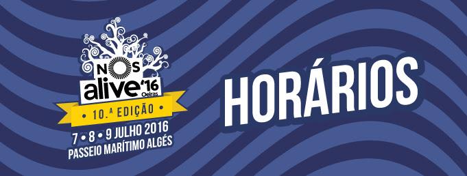 NOS Alive'16: cartaz e horários