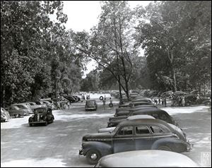 Cars pack the lot of just-opened East Harbor State Park in the late 1940s. The beach once drew  30,000 visitors a weekend between Memorial Day and Labor Day.