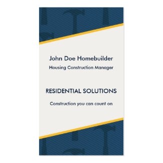 Construction Blues Business Card