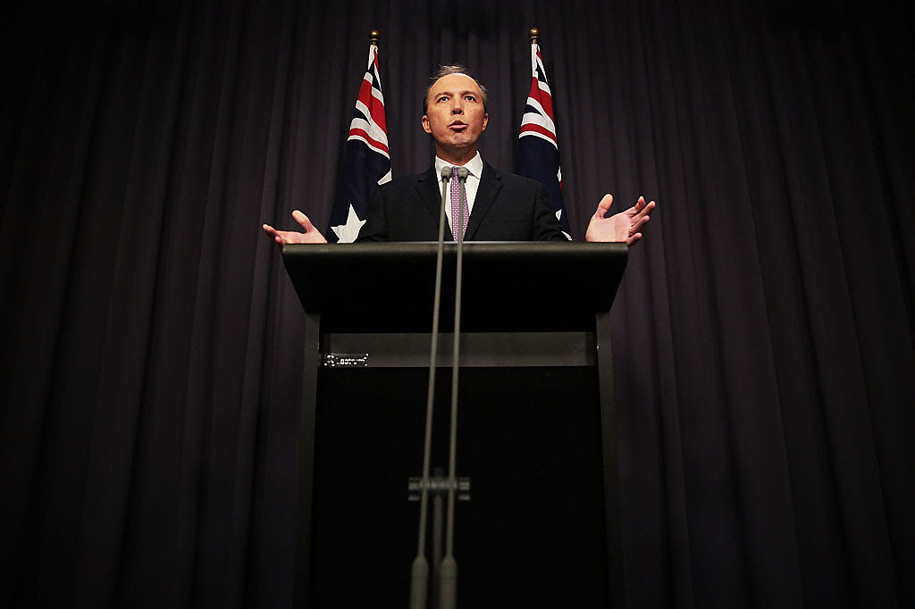 Home Affairs minister Peter Dutton, who is responsible for immigration in Australia.