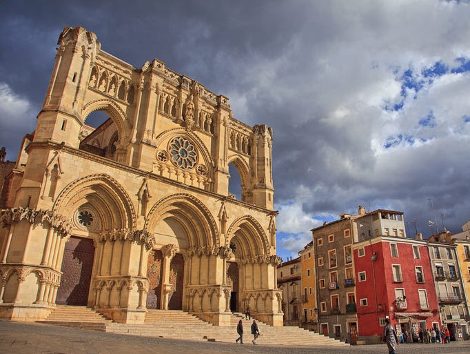 Nuestra                                                           Se??ora de                                                           Gracia in                                                           Cuenca, Spain,                                                           has a Gothic                                                           interior,                                                           dating back to                                                           when                                                           construction                                                           began in 1196                                                             on the former                                                           site of the                                                           city's main                                                           mosque before                                                           its                                                           reconquest.