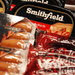 Some of the products of Smithfield Foods are displayed at news conference in Hong Kong.