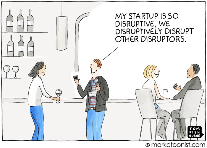 """Disruptive Innovation"" cartoon"