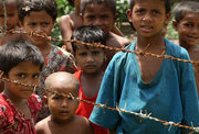 Myanmar, a Buddhist-majority country, keeps many Rohingya Muslims in quasi-concentration camps.