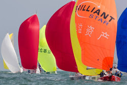 J/80s sailing China Cup regatta off Hong Kong & Shenzen