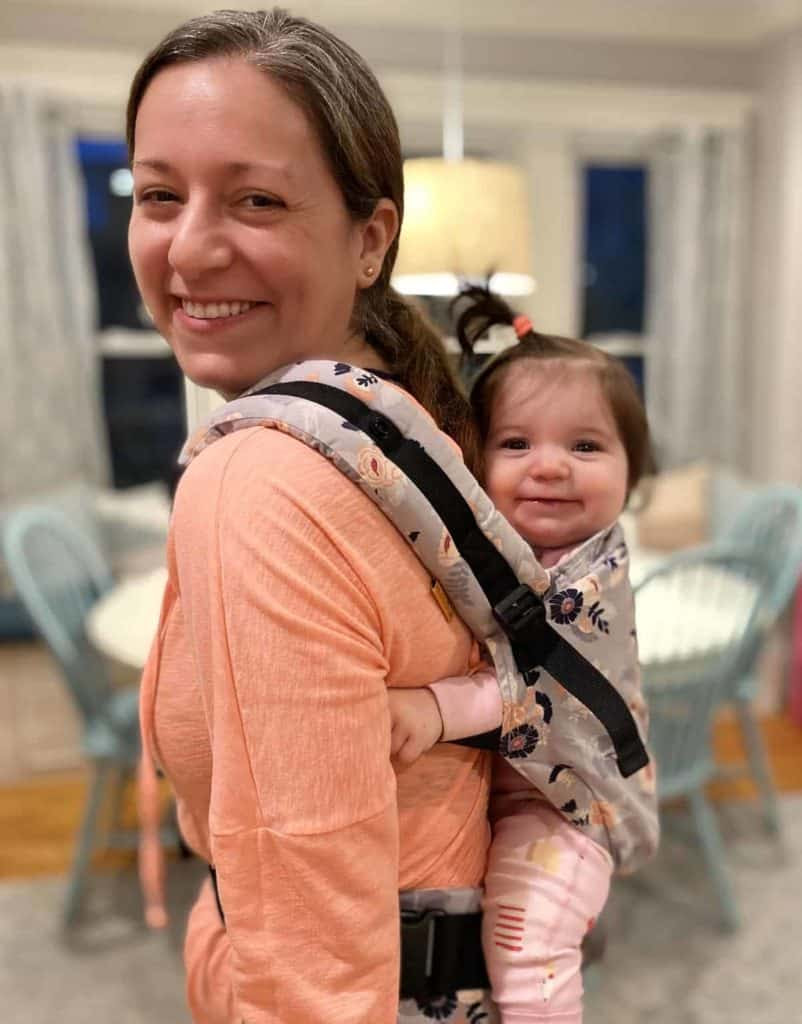 mom and baby in a tula carrier