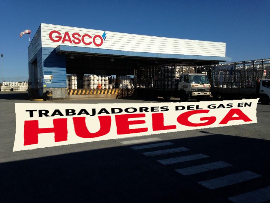 Trabajadores del Gas en huelga