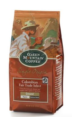 Green Mountain Colombian Fair Trade Select ground coffee