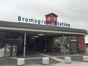 Entrance to the new Bromsgrove station, opened to train services in July 2016