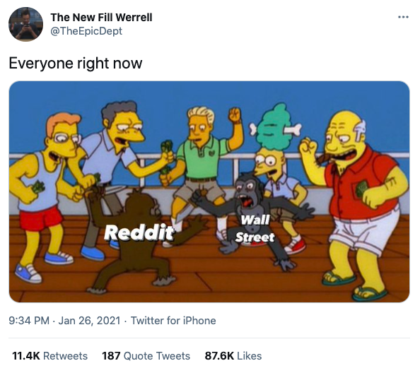 Tweet by TheEpicDept, Everyone right now