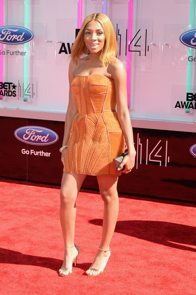 Singer Lil Mama attends the BET AWARDS '14 at Nokia Theatre L.A. LIVE on June 29, 2014 in Los Angeles, California.