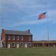The flags fly at Fort Clinch State Park.