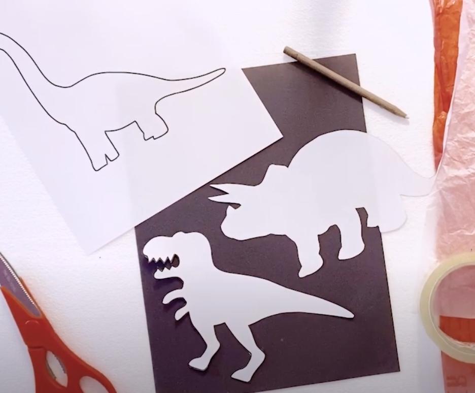 Dinosaur cut-out templates