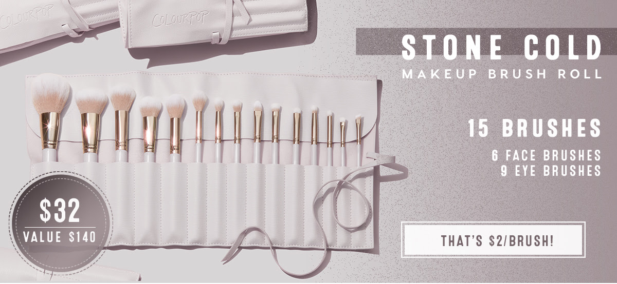 Stone Cold Makeup Brush Roll | $32