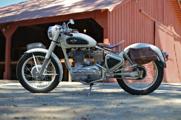 Chris Chappell's meticulously restored Royal Enfield Bullet 350.