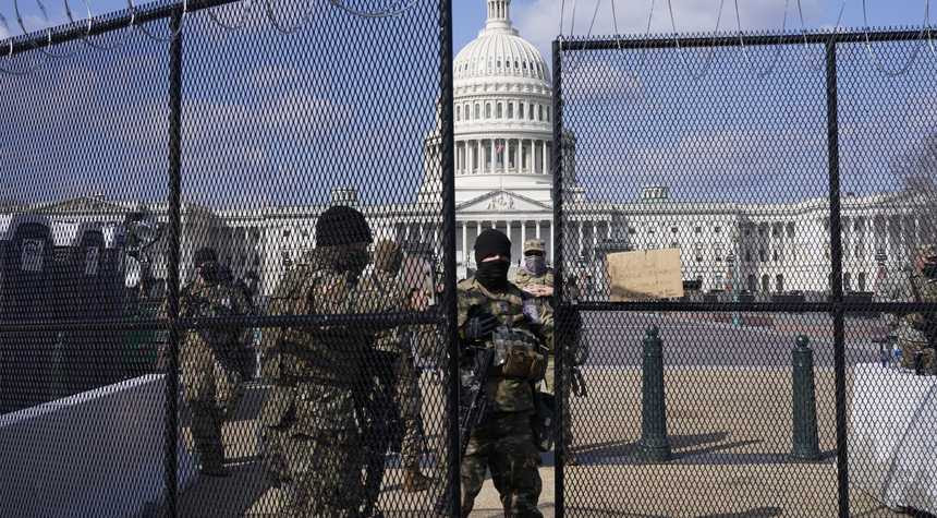Soldiers outside of Capitol Hill