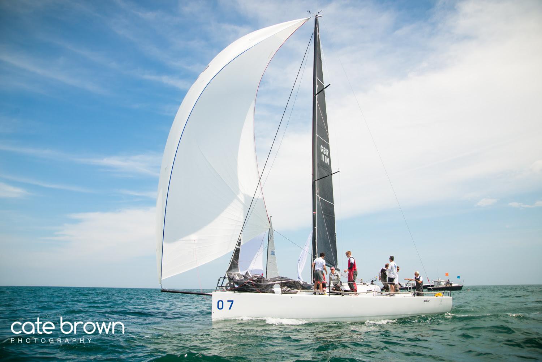 J/111 sailing World Championship off Newport, RI
