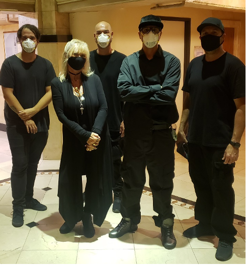 Patti and the cast of Ghost Adventures