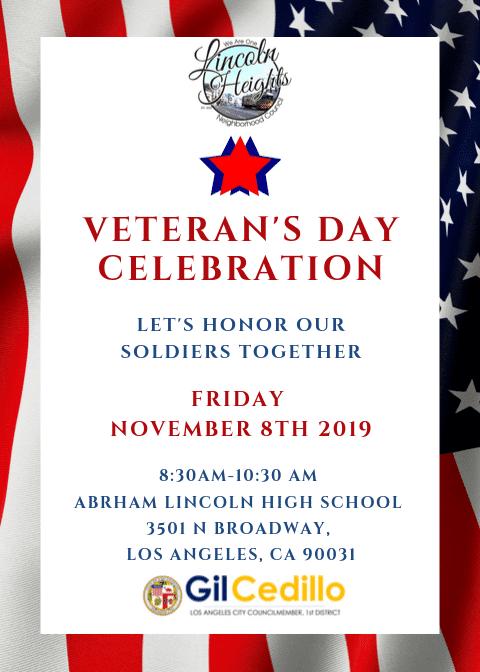 Veteran's Day 11-8-19