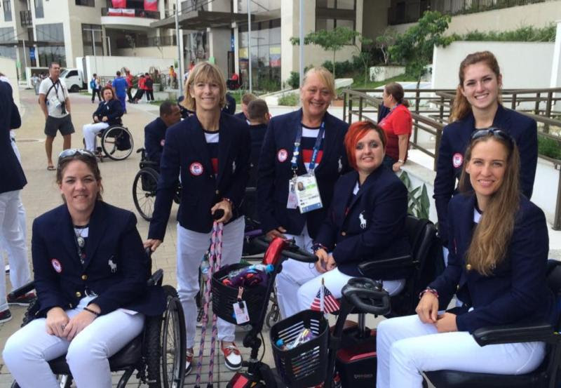U.S. Paralympic Equestrian Team at Opening Ceremonies _courtesy of Rebecca Hart_