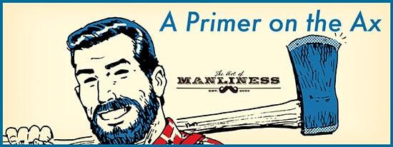 primer on the ax illustration bearded man