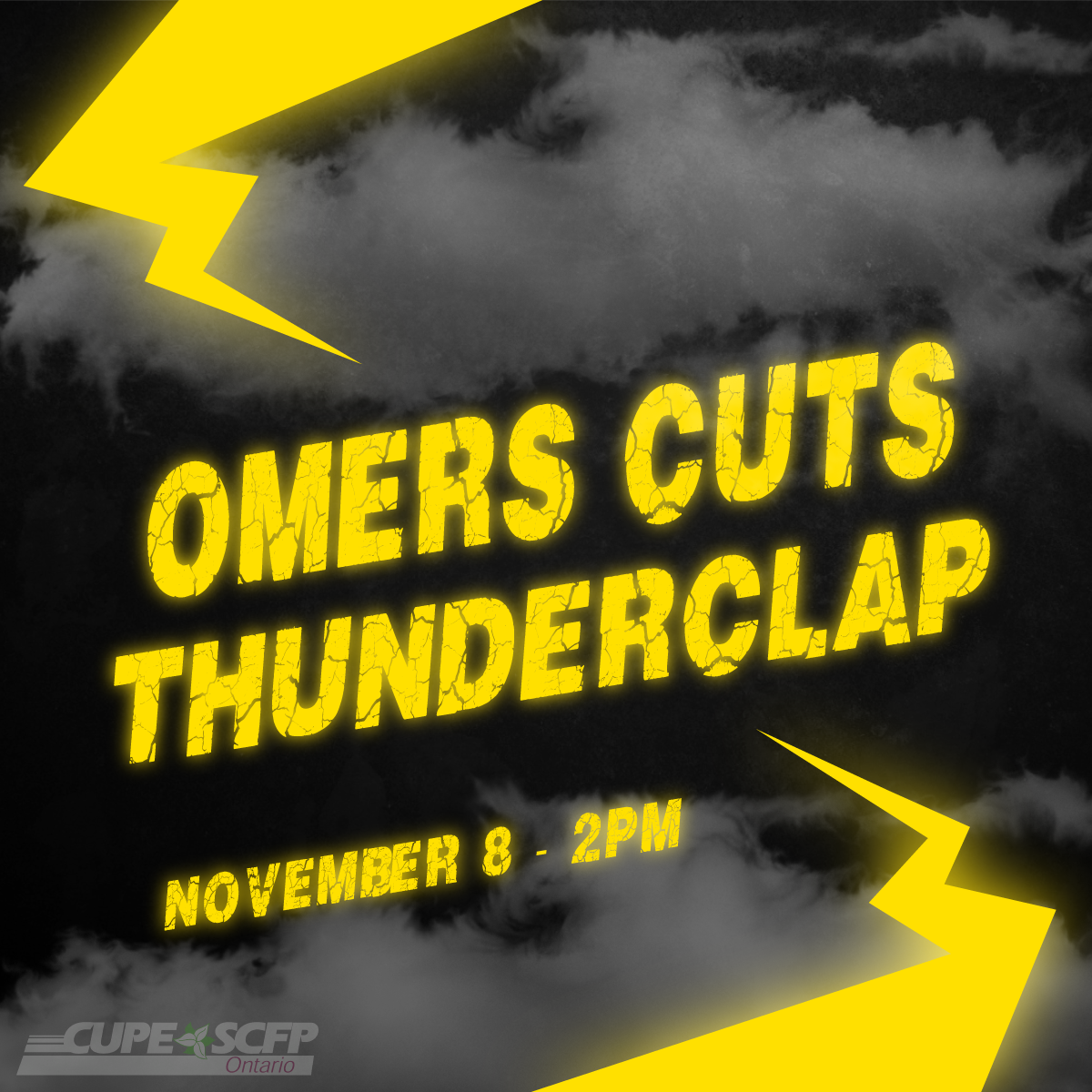 OMERS CUTS THUNDERCLAP November 8 - 2PM