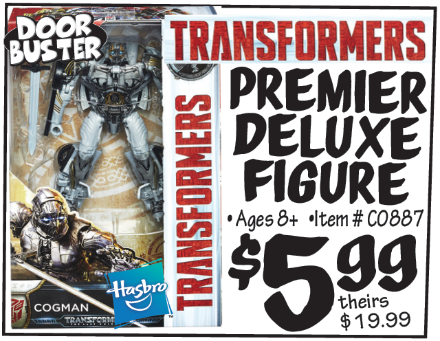 Transformers News: Steal of a Deal: Ollies Black Friday Advertising The Last Knight Cogman for $5.99