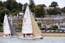 J/80s sailing at Cowes Week