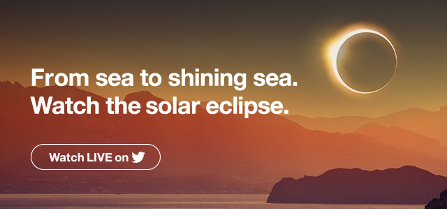From sea to shining sea. Watch the 'Great American Eclipse'. Watch live on Twitter