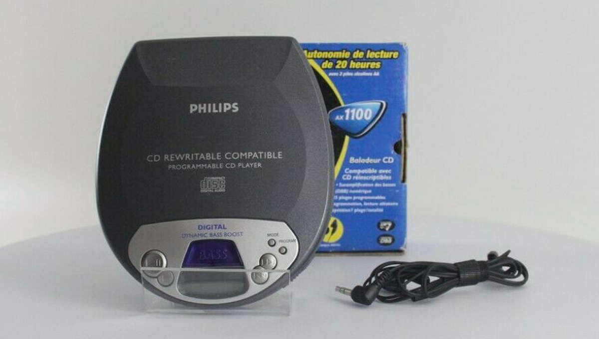 Philips cd rewritable portable player