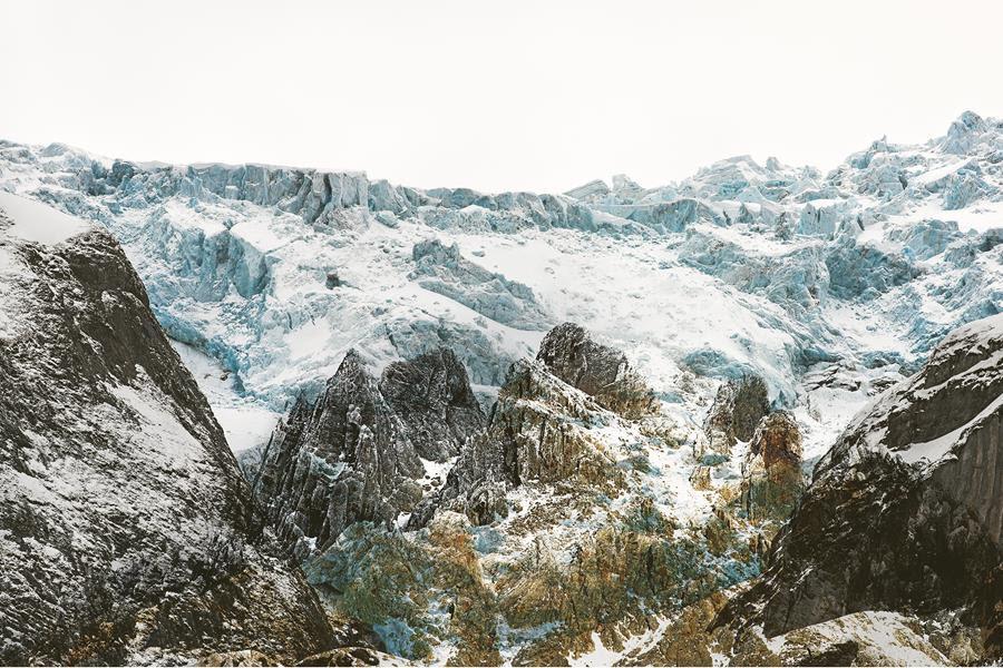 "Renate Aller, ""Ocean | Desert # 60, Atlantic Ocean, November 2013"" archival pigment print, 59"" x 91"""