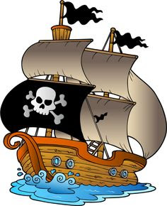 Image result for free pirate ship clipart
