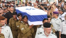 IDF soldiers carry the coffin at the funeral of Israeli soldier Sgt. Adar Bersano (20).