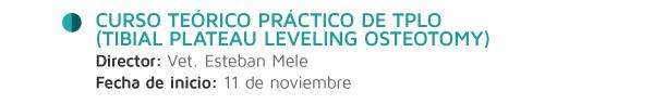 Curso Teórico Práctico de TPLO (Tibial Plateau Leveling Osteotomy)