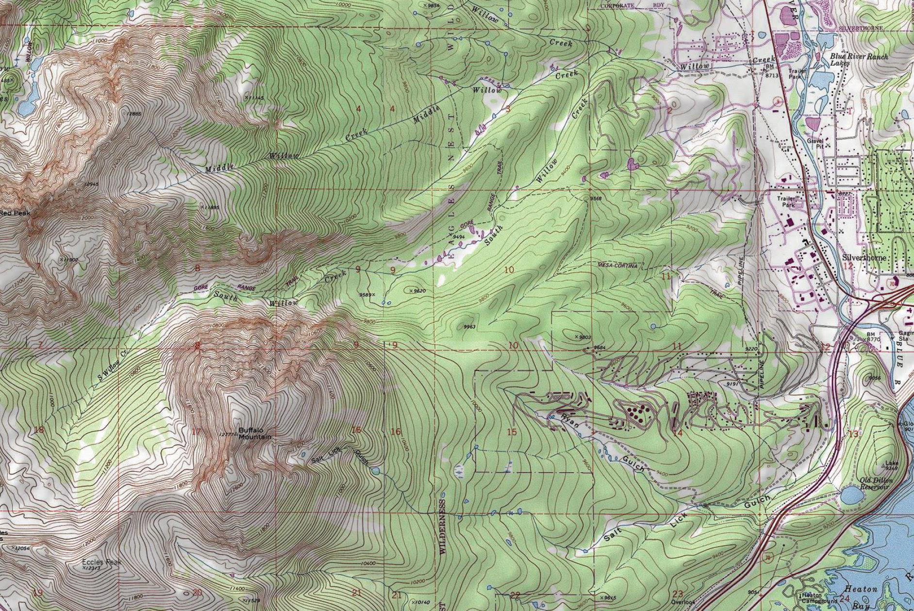 Custom Topographic Maps Lake County Summit County Colorado