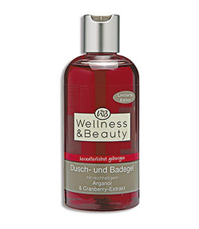 Wellness & Beauty Dusch- und Badegel Arganöl & Cranberry-Extrakt