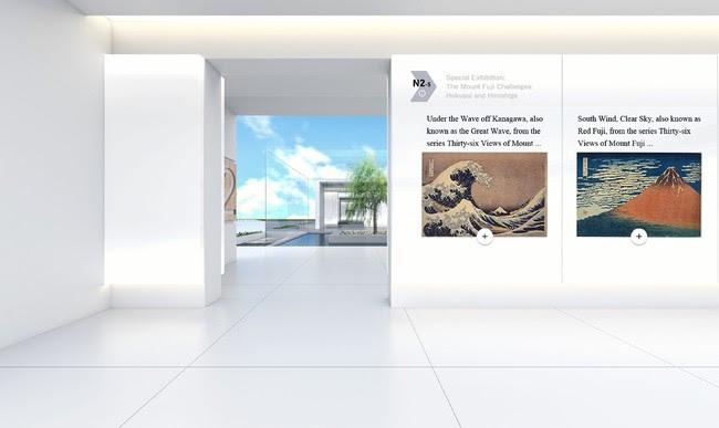 展示エリアの様子(例):特別展「冨嶽三十六景への挑戦 北斎と広重」江戸東京博物館