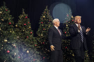 President-elect Donald J. Trump with Vice President-elect Mike Pence at a rally in West Allis, Wis., on Tuesday.