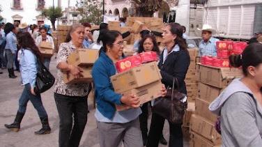 Banco de alimentos entrega 1200 despensas en Tlaltenango ...