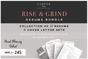Rise & Grind-Resume & letter Bundle