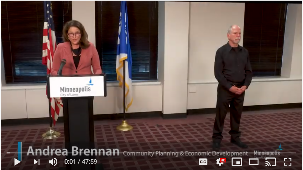 video clip of city leader press conference