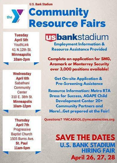 US Bank stadium hiring fair