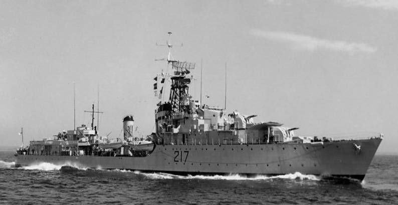 HMCS Iroquois damaged in Korea