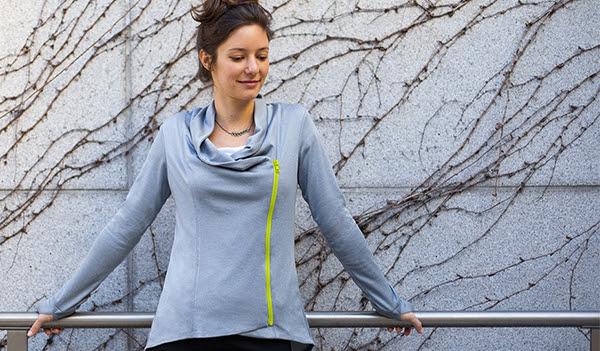 Zip-Up Yoga Tunic